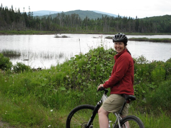 Enjoying the ride out to Mud Pond in the Balsams' Wilderness, Dixville Notch, NH