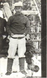 Great grandfather, Allan Goudie, near North West River, Labrador, ca. 1900.
