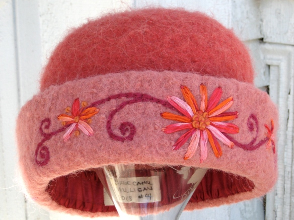 Spring Blossoms, my 2009 felt hat donation for NHPTV's Virtual Online Auction.