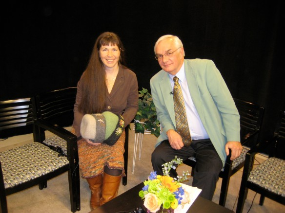 On the set with Mark at Concord TV.