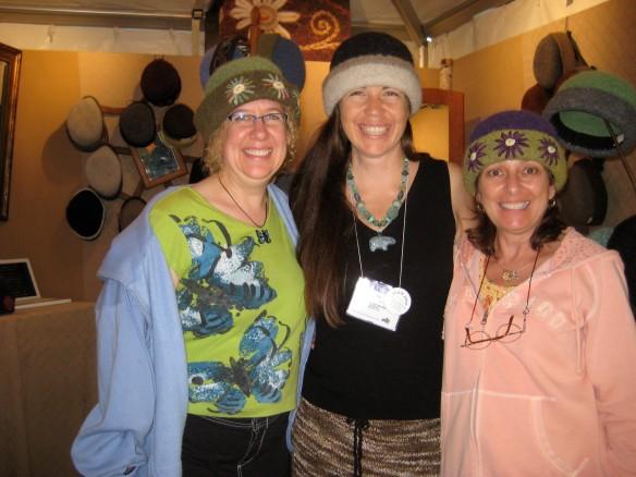 Julie & Dorothy Model the Hats That Chose Them
