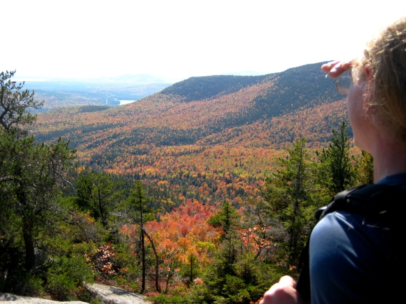 Peak Fall Colors Along the Middle Sister Trail, Mt. Chocorua, NH, October 2008.