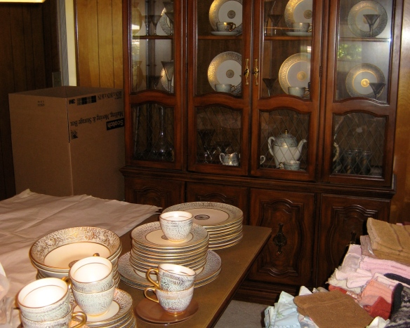 Mom's Hutch and fancy dishes.