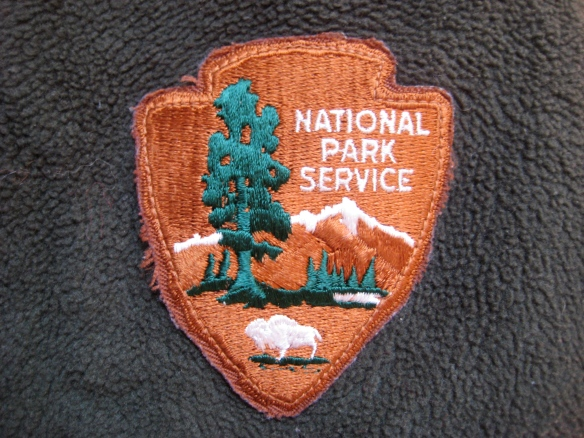 Embroidered emblem of the National Park Service.
