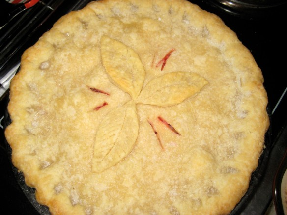 My homemade Strawberry Rhubarb pie