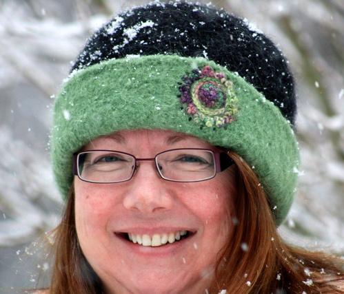 Beth's Iris Mandala Felt Hat
