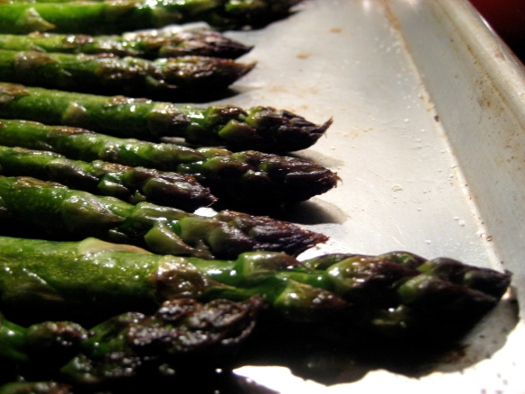 Caramelized Asparagus Spear Tips - macro