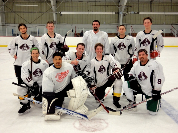 The 2012 Men's Mudleague expansion hockey team, the Pirates.