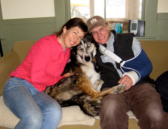 Carrie & Andy Mulligan with Cinder-Dog, April 2012