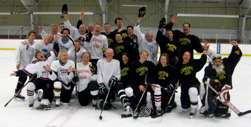 The Campion Rink Learn-To-Play group finishes the year with a 7 game series in April.