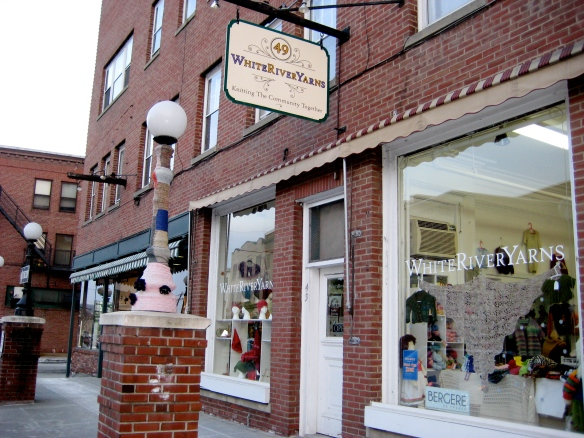 White River Yarns: the coziest spot in downtown White River Junction, Vermont.