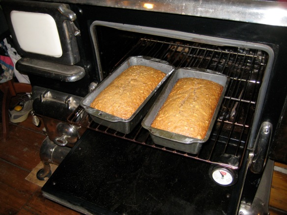 Loaves are fully cooked when golden brown & slightly cracked on top.