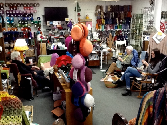 Karen Caple's yarn shop in White River Jct., Vermont,  is a cozy haven for knitters of all abilities.