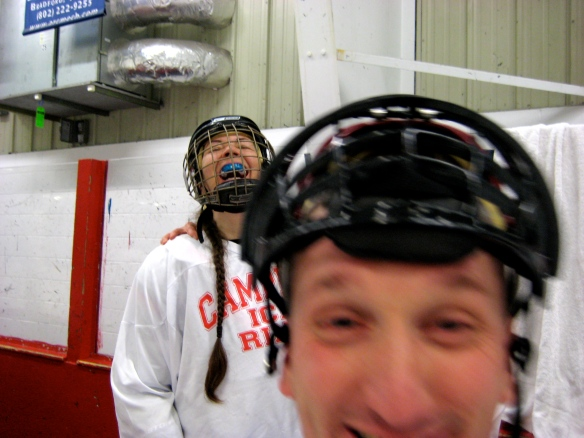Coach Pollard perfects his photobomb technique at the rink!