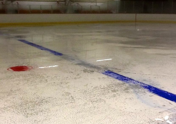Once the compressors are turned off, the ice melts quickly...