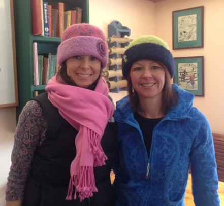 Pam & Robyn sporting their new felt hats.