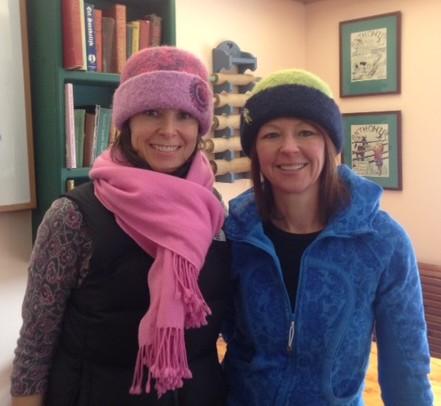 Pam & Robyn sporting their new felt hats.